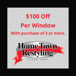 HTR $100 Off Per Window