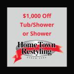 HTR $1000 Off Tub/Shower