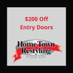 HTR $200 Off Entry Door